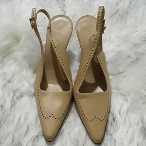 dc34dcd0618 Celine Shoes   Black Glazed Leather Point Toe Heels Sz 39   Poshmark